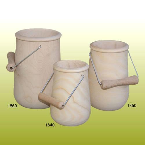 pots en bois à décorer coniques