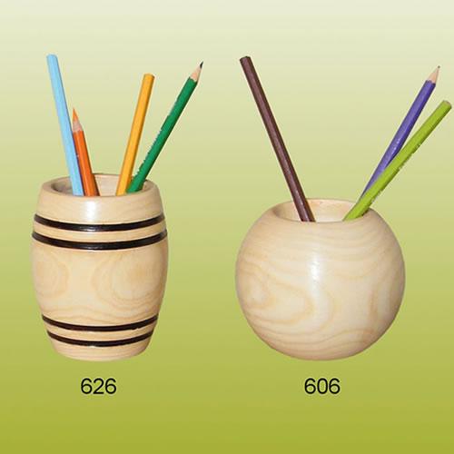 pot à crayon bois article souvenir