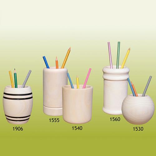 pots en bois fabricant pots à crayons bois