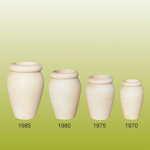 vase en bois naturel bois brut à décorer